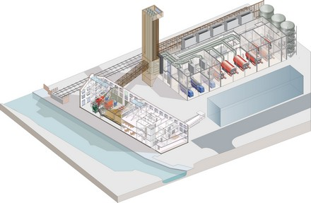 Olympic Energy Centre cutaway