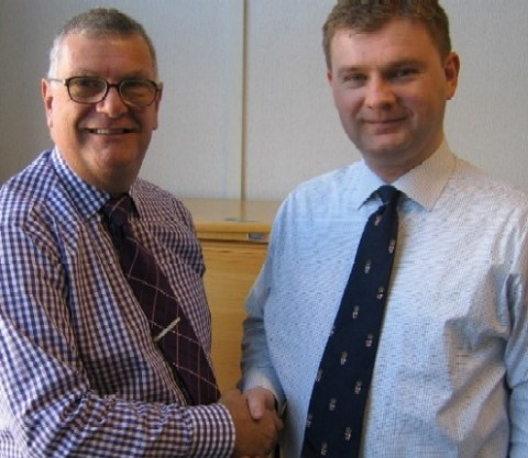 Ian Fielder BIFM (left) with Mark Fox BSA