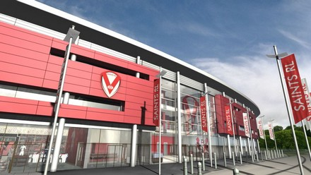 An artist's impression of the new 18,000 capacity St Helens Rugby League club stadium