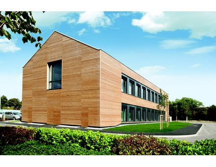 The UK's first carbon neutral PassivHaus office at the Watermead Business Park in Leicester
