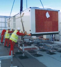 Delrac engineers install a packaged chiller